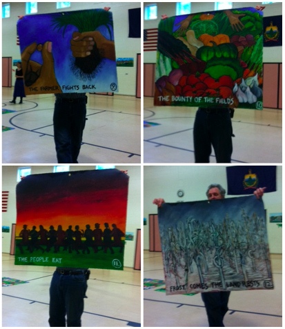 Jay at Sharon Elementary School, collage