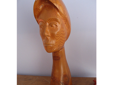 "Remembering Ro, wood, 17""x5""x9"""