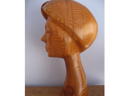 "Remembering Ro (profile), wood, 17""x5""x9"
