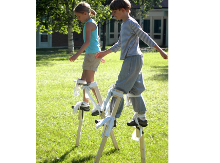 Stilt walking workshop